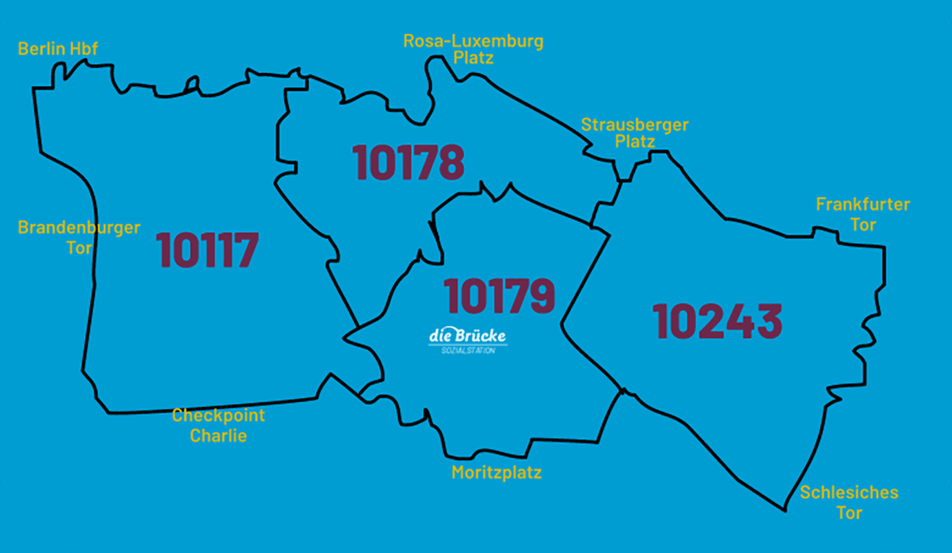 """Sozialstation """"Die Brücke"""" Einzugsgebiet Berlin-Mitte"""